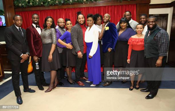 The Boys and Girls Choir of Harlem Alumni Ensemble poses after performing as Brooks Brothers celebrates the holidays with St Jude Children's Research...