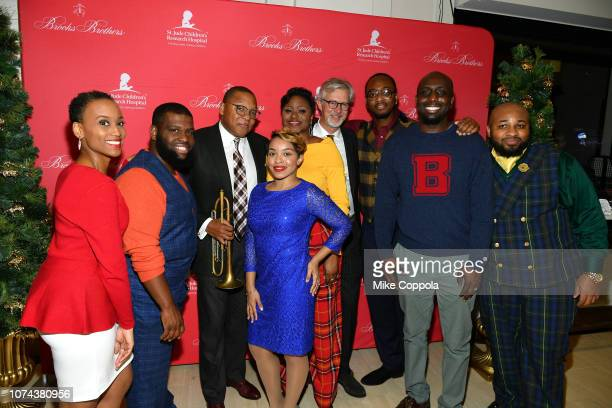 The Boys and Girls Choir of Harlem Alumni Ensemble Wynton Marsalis and Claudio Del Vecchio attend the Brooks Brothers And St Jude Children's Research...