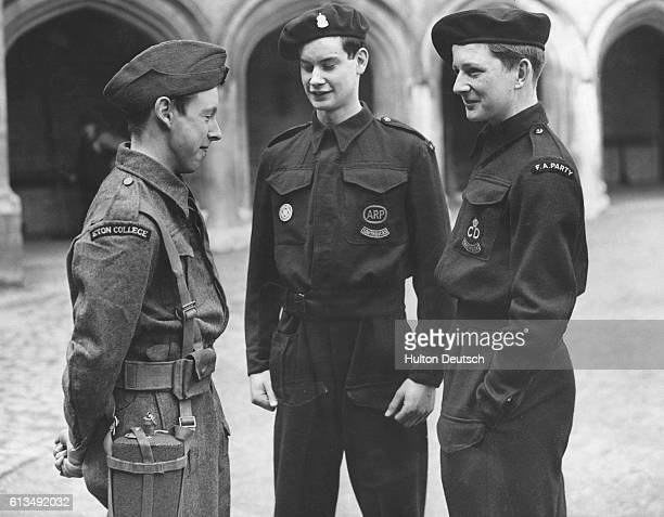 The boys of Eton College private school have their own Home Guard Unit during World War II and also have Air Raid Precaution Services whose...