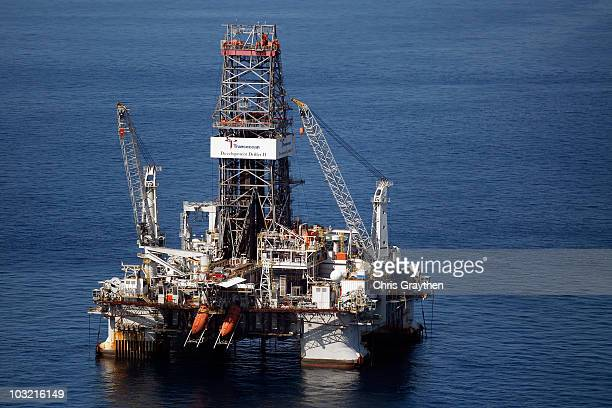 The BP Deepwater Horizon oil well is seen on August 3, 2010 in the Gulf of Mexico off the coast of Louisiana. BP is to begin plugging the damaged oil...