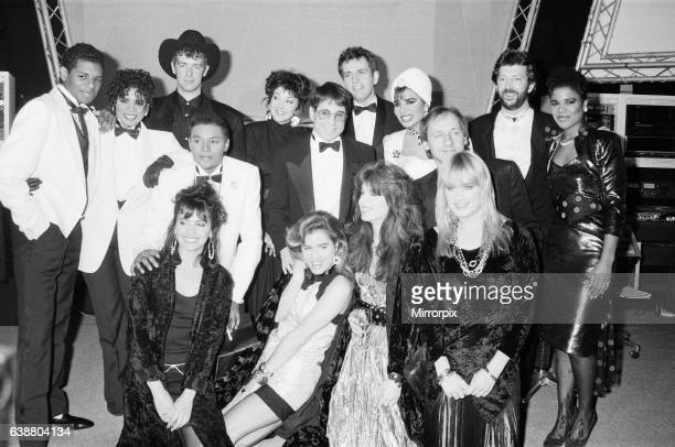 The BPI Award Winners 1987 The British Phonographic Industry award ceremony at The Grosvenor House London on 9th February 1987 Winners pictured are...