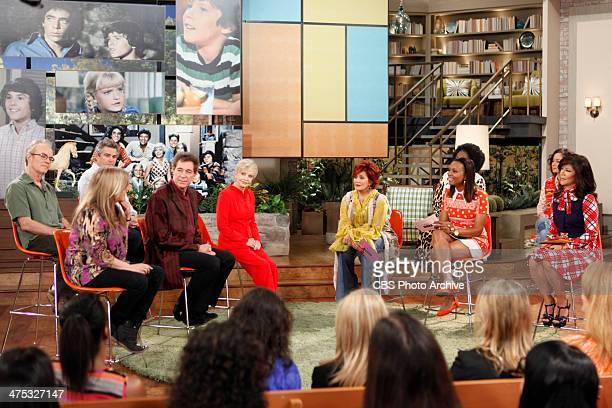 The Brady Bunch cast reunites to celebrate Florence Henderson's 80th birthday on THE TALK Thursday February 2014 on the CBS Television Network From...
