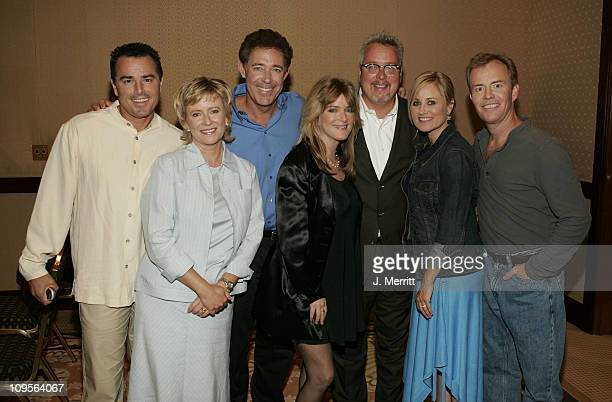 The Brady Bunch original cast members Maureen McCormick Eve Plumb Susan Olsen Barry Williams Christopher Knight and Mike Lookinland *Exclusive*