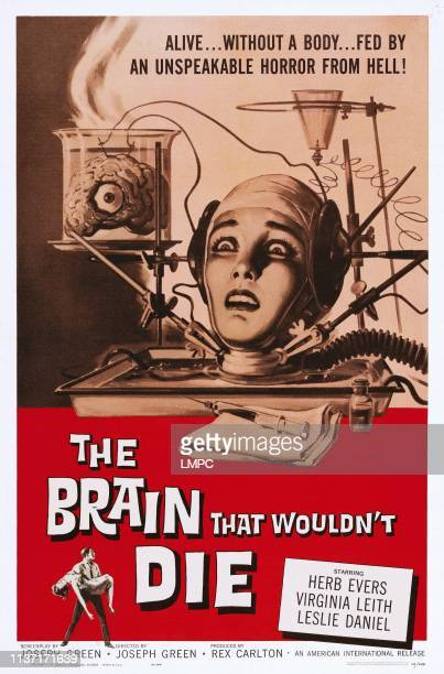 The Brain That Wouldn't Die poster US poster art Virginia Leith 1962