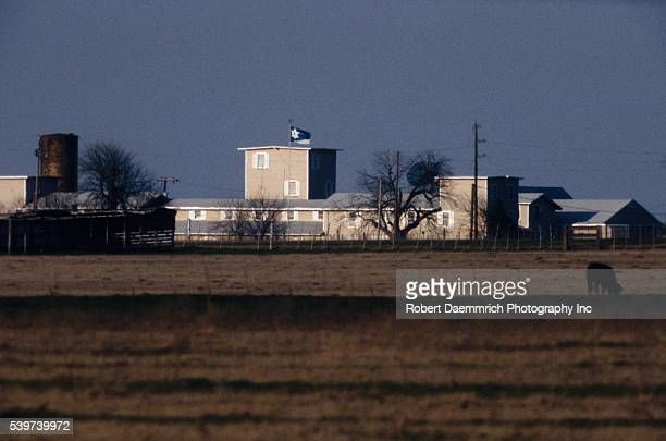 The Branch Davidian Compound that the Bureau of Alcohol Tobacco and Firearms and the FBI attempted to raid on February 28 1993