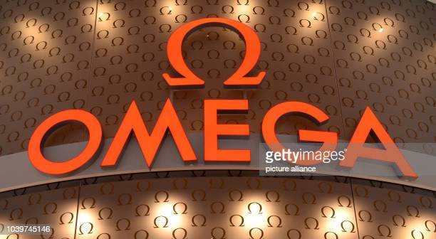 The brand logo of watch manufacturer Omega is on display at the International watch and jewellery fair Baselworld 2014 in Basel Switzerland 28 March...