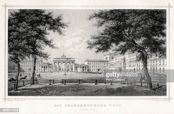 The Brandenburg Gate Berlin 19th century The only remaining city gate of Berlin the Brandenburg Gate was commissioned by Frederick William II of...