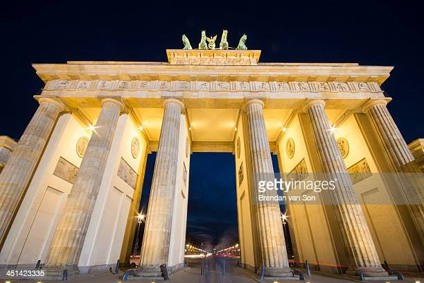 CONTENT] The Brandenburg Gate in Berlin Germany at dusk