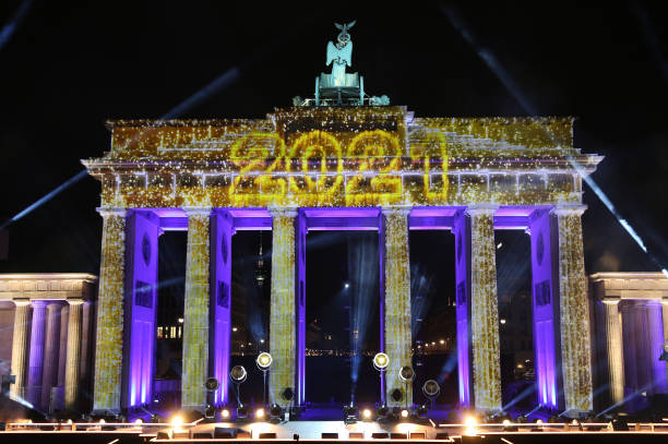 """DEU: """"Willkommen 2021"""" New Year's Eve Live Show At Brandenburg Gate"""