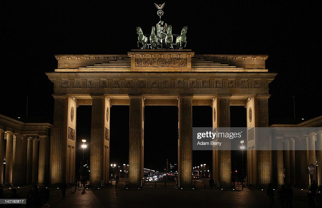 The Brandenburg Gate stands completely illuminated prior to its lights being turned off for Earth Hour 2012 on March 31, 2012 in Berlin, Germany. According to organizers, Earth Hour 2012 has participants including individuals, companies and landmarks in 147 countries and territories and over 5,000 cities, agreeing to switch off their lights for one hour. The Brandenburg Gate, the Eiffel Tower in Paris, Big Ben Clock Tower in London, the Christ the Redeemer statue in Rio de Janeiro and the Empire State Building in New York are among the monuments whose operators have agreed to participate in the demonstration.