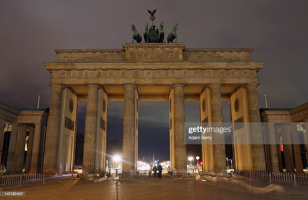 The Brandenburg Gate stands unilluminated during Earth Hour 2012 on March 31, 2012 in Berlin, Germany. According to organizers, Earth Hour 2012 has participants including individuals, companies and landmarks in 147 countries and territories and over 5,000 cities agreeing to switch off their lights for one hour. The Brandenburg Gate, the Eiffel Tower in Paris, Big Ben Clock Tower in London, the Christ the Redeemer statue in Rio de Janeiro and the Empire State Building in New York are among the monuments whose operators have agreed to participate in the demonstration.