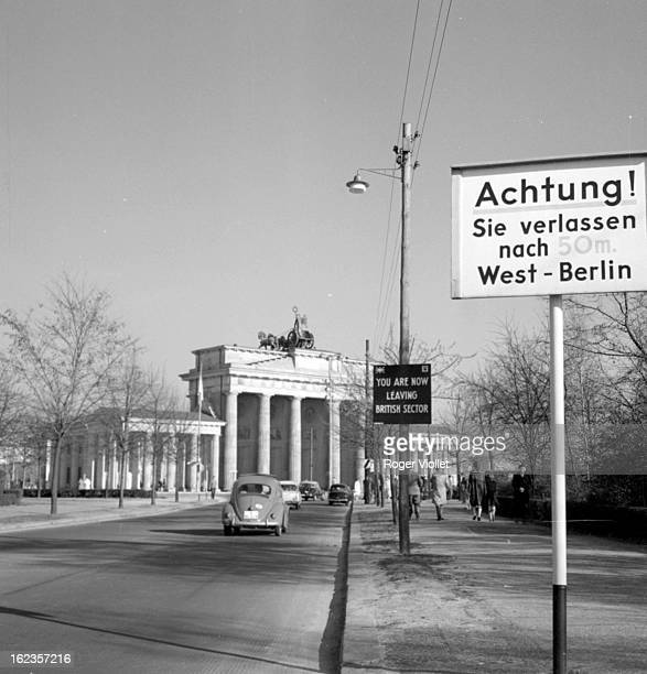 The Brandenburg Gate view from the Western side before the Berlin Wall was built 1961