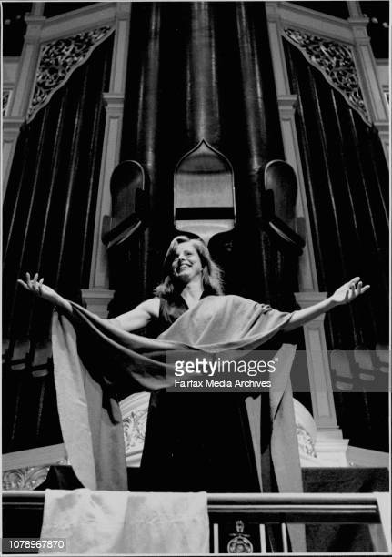 The Brandenburg Orchestra rehearse for their Wednesday night performance.Heather Mitchell in her role as orator. January 12, 1993. .