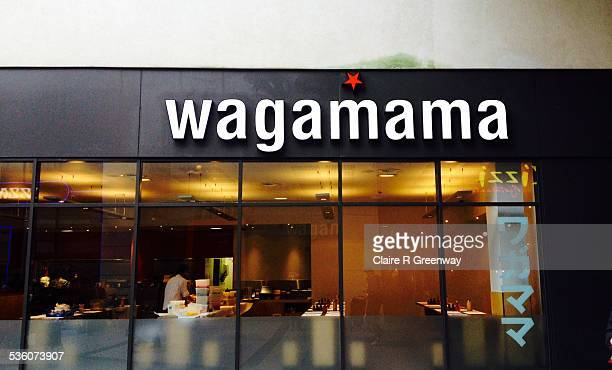 The branding over the window of Japanese cuisine chain restaurant Wagamama is pictured
