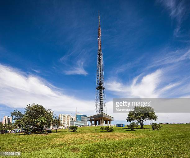 the brasilia tv tower - distrito federal brasilia stock pictures, royalty-free photos & images