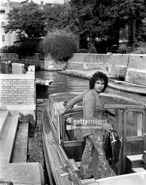 The Brasilian singer Roberto Carlos boards a vaporetto in a Venice canal The singer starts his career in 1958 as imitator of Elvis Presley In 1968 he...