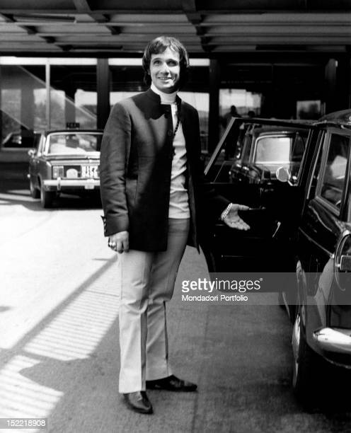 The Brasilian singer Roberto Carlos during his stay in Milan In 1968 he wins the Sanremo Song Festival with Sergio Endrigo by singing the song...