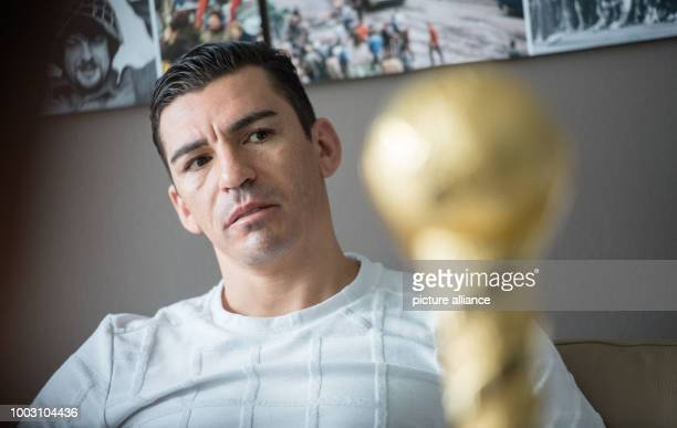 The Brasilian soccer player Lucio during an interview in Berlin Germany 25 May 2017 Photo Sebastian Gollnow/dpa