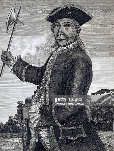 The brave old Hendrick the great sachem or chief of the Mohawk Indians Print shows Hendrick Tiyanoka also spelled Theyanoguin or Tee Yee Neen Ho Ga...