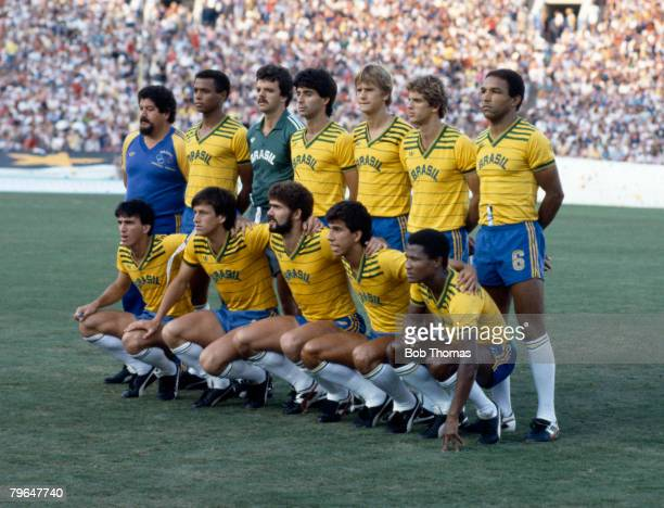 Sport 1984 Olympic Games in Los Angeles Football Final France 2 v Brazil 0 The Brazil team