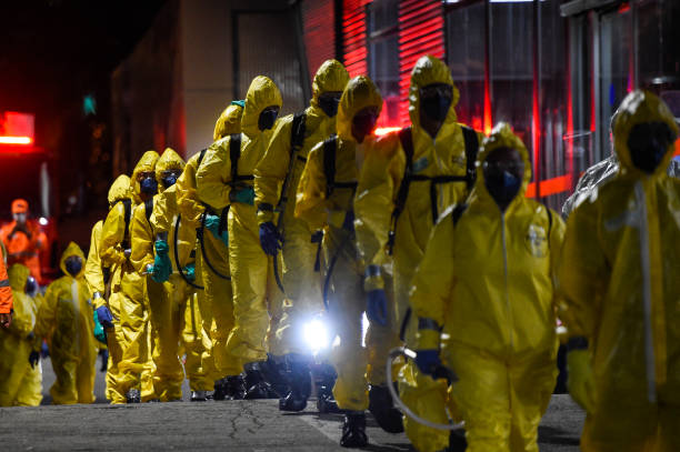 BRA: Brazilian Army, Firefighters and the Civil Defense First Response  Sanitized Bus Stations as A Training for the Military to Help Combat the Coronavirus (COVID -19) Pandemic