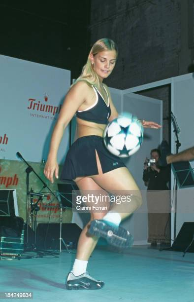 The Brazilian female football player Milene Domingues 'Ronaldinha', wife of the Brazilian player Ronaldo Madrid, Spain..