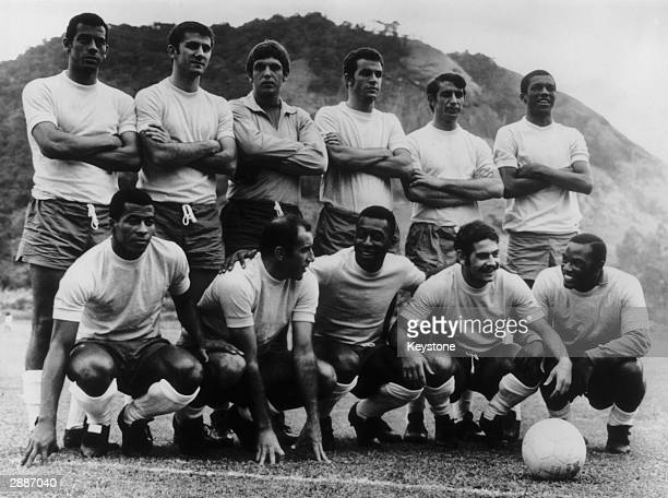 The Brazilian football team 18th May 1970 Carlos Alberto Baldocchi Ado Fontana Piazza and Marco Antonio Jairzinho Gerson Pele Rivelino and Edu