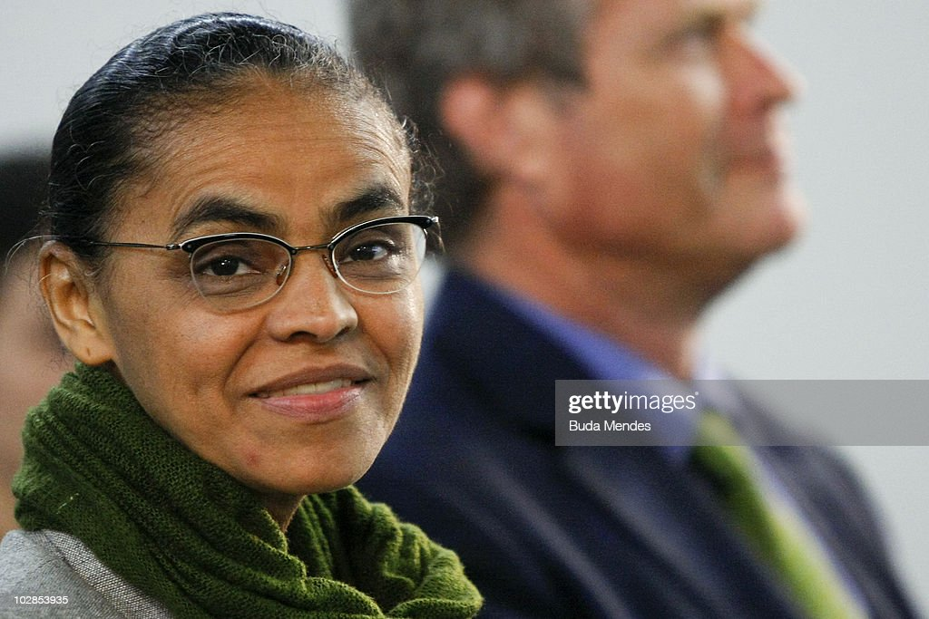 Presidential Candidate Marina Silva Visits Brazilian Olympic Committee