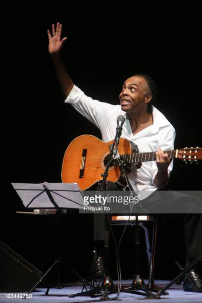 The Brazilian singer Gilberto Gil performing solo recital at Carnegie Hall on Tuesday night March 20 2007