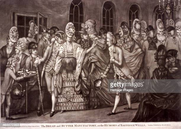 'The Bread and butter manufactory or the humors of Bagnigge Wells' St Pancras London 1772 Bagnigge Wells was a popular spa which thrived from 1760 to...