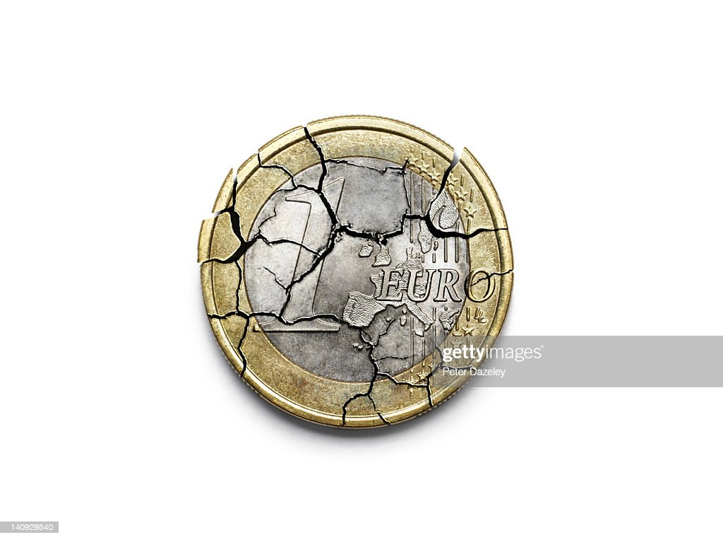 The break up of the Euro : Stock Photo