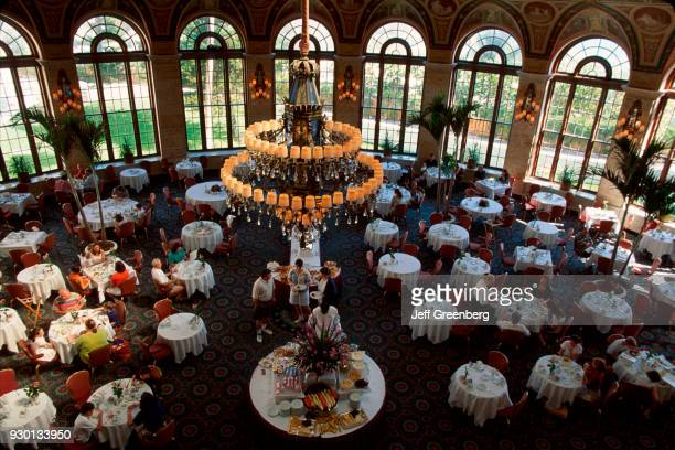 The Breakers c1926 Italian Renaissance style five star hotel the Circle Dining Room at breakfast