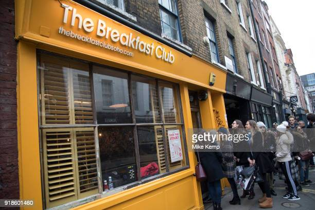 The Breakfast Club restaurant in Soho London England United Kingdom The Breakfast Club is incredibly popular amongst young people who are seen...