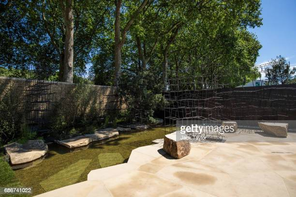 The 'Breaking Ground' Garden on display at the Chelsea Flower Show on May 22 2017 in London England The prestigious Chelsea Flower Show held annually...