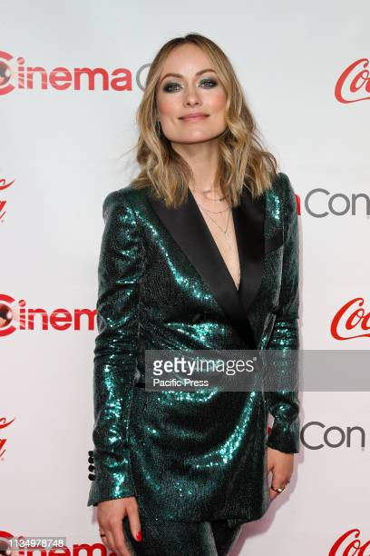 The 'Breakthrough Director of the Year Award' Olivia Wilde during the CinemaCon Big Screen Achievement Awards at Omnia Nightclub at Caesars Palace...