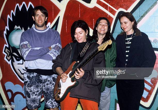 The Breeders backstage at the Catalyst in Santa Cruz CA on October 10 1994