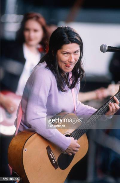 The Breeders Kim Deal Josephine Wiggs performing on stage Pukkelpop Festival Hasselt Belgium 28th August 1993