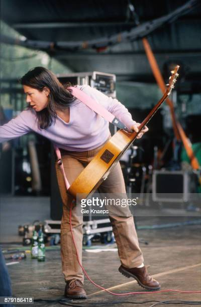 The Breeders Kim Deal performing on stage Pukkelpop Festival Hasselt Belgium 28th August 1993