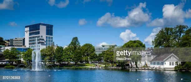 The Breiavatnet Lake in Stavanger, Norway