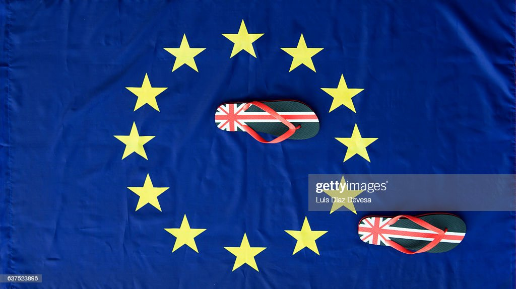 The brexit and the first steps to leave the European Union : Foto de stock