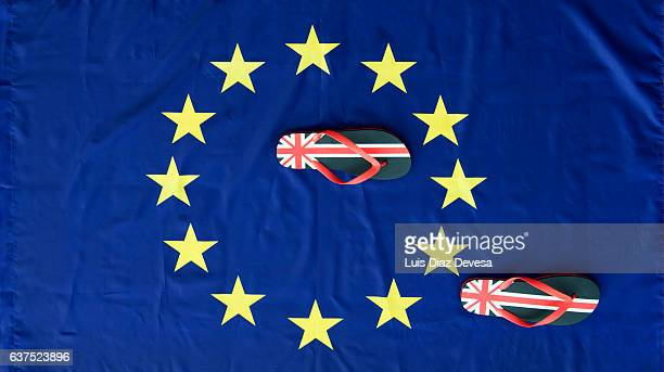 the brexit and the first steps to leave the european union - brexit stock pictures, royalty-free photos & images