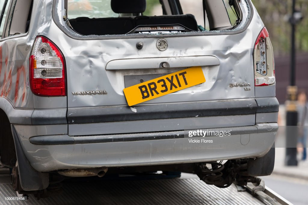 Brexit Banger Car Stunt By The People's Vote Campaign : News Photo