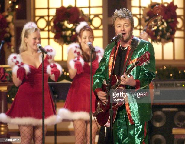 The Brian Setzer Orchestra performs at TNT's Christmas in Washington Concert to air Sunday December 15 at 8pm ET/PT live from the National Building...