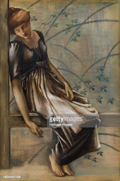 The Briar Rose Series - Study for 'The Garden Court', 1889. Artist Sir Edward Coley Burne-Jones.
