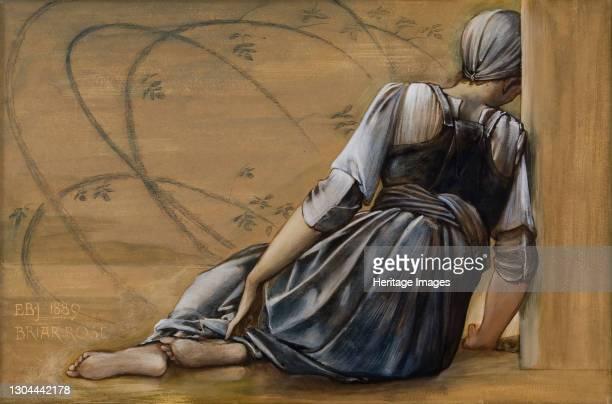 The Briar Rose Series - Study for 'The Garden Court', 1889. Artist Sir Edward Coley Burne-Jones.