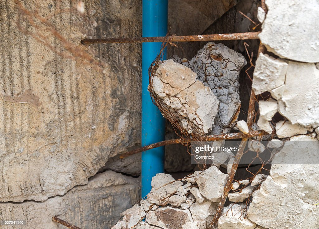 The Brick It Broke Damaged Before New Wall Form Construction