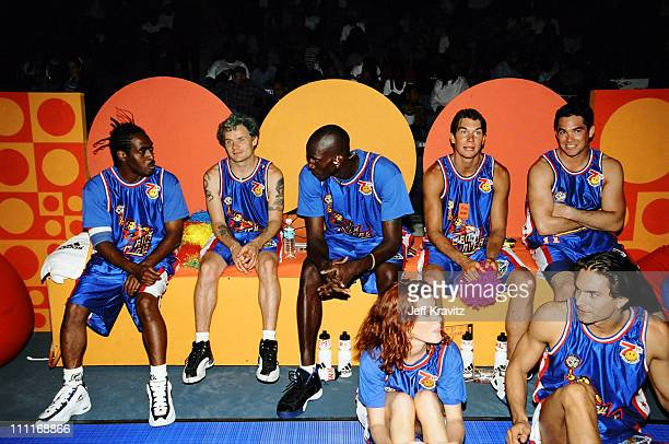 The Bricklayers Team during 1997 MTV Rock 'n Jock Basketball in Los Angeles California United States