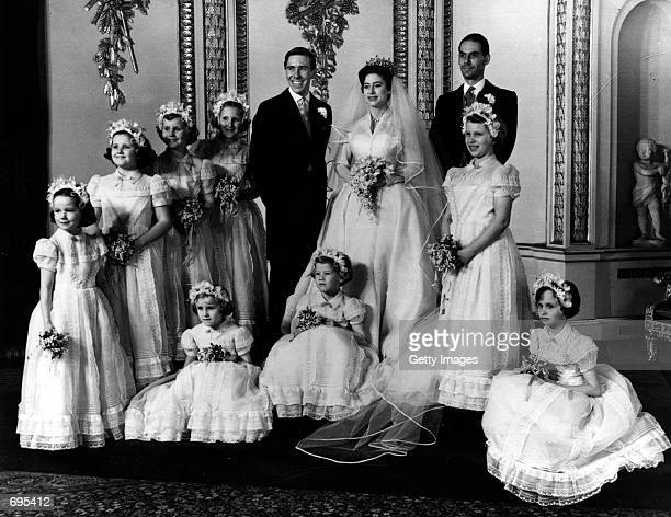 The bridal group at Buckingham Palace May 6 1960 at the wedding of Princess Margaret and Antony ArmstrongJones Buckingham Palace announced that...