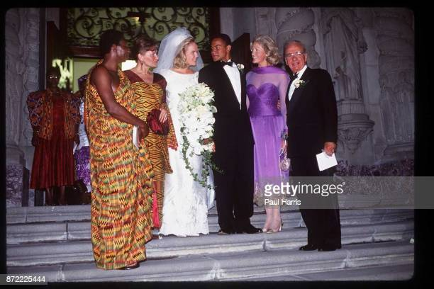 The Bride and Grooms parents at the wedding of Elisabeth Murdoch daughter of Rupert Murdoch and Elkin Pianim the son of a Ghanaian politician on...