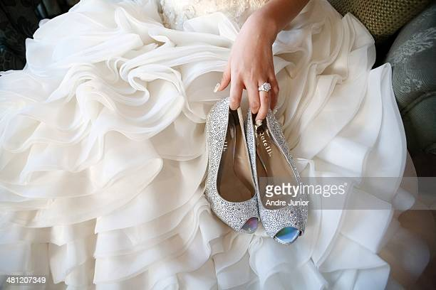 The bride and shoes